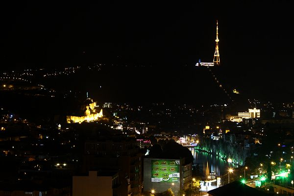 night view of tbilisi from Hotel Tbilisi Apart